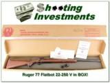 Ruger 77 Flatbolt 22-250 Varmint IN BOX!