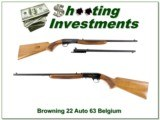Browning 22 Auto 63 Belgium Blond w/ Jap barrel