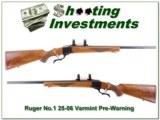 Ruger No.1 22-250 Varmint Pre-Warning Red Pad