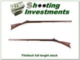 Flint Lock 30 Caliber with very nice full-length stock
