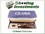 CZ Mallard 12 Gauge 28in Over and Under in box