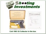 Colt 1903 32 Special 1908 collector with box