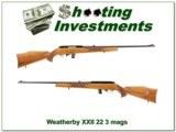 Weatherby XXII 22 Auto Italian 3 mags