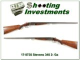 Rare Stevens Model 345 20 Gauge Sportman's Idea SxS!