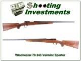 Winchester 70 243 Varmint Sporter near new!