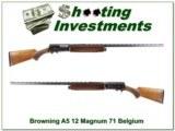 Browning A5 Magnum 12 Ga 71 Belgium 32in VR - 1 of 4