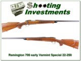 Remington 700 early Varmint Special metal butt 22-250