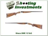 Ithaca 200E 12 Ga SxS Beautiful wood Engraved!