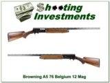 Browning A5 Magnum 12 76 Belgium Vent Rib