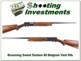 Browning A5 Sweet Sixteen 60 Belgium Vent Rib collector!