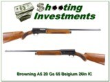 Browning A5 20 Gauge 65 Belgium 26in IC
