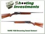 RARE 1938 Belgium made Browning Sweet Sixteen!