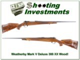 Weatherby Mark V Deluxe 300 Wthy XX Wood!