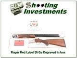 Ruger Red Label 20 Gauge engraved in box!