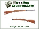 Remington 700 LH BDL 270 Exc Cond!