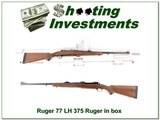 Ruger 77 Left Handed 375 Ruger ANIB w 100 rounds ammo!