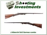 J Albercht SxS German Combo 16 Ga and 9.3x72