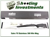 Sako 75 Stainless 300 Winchester Magnum 26in!