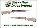 Weatherby Mark V Ultra-light 240 Wthy Mag