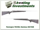 Remington 700 BDL Stainless 300 RUM