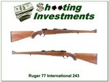 Ruger 77 International in 243 Winchester