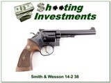 Smith & Wesson 14-2 38 Special 6in blued Exc Cond - 1 of 4