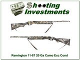 Remington 11-87 Sportsman 20 Gauge full camo!
