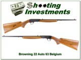 Browning 22 Auto 63 Belgium collector! - 1 of 4