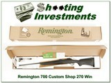Remington 700 Custom Shop 270 Winchester