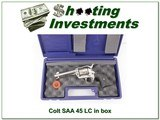 Colt SAA 45 LC 4.75in Custom Shop Fired Blued screws ANIB!