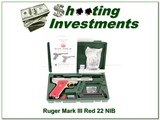 Ruger Mark III Hunter 4.5in RARE Red grips NIB!