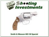 Smith & Wesson 603 38 Special 2in Nickel