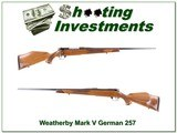 Weatherby Mark V Deluxe German 257 collector condition!