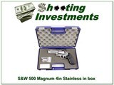 Smith & Wesson 500 Magnum 4in stainless in case