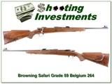 Browning Safari Grade 59 Belgium 264 Win Mag