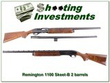 Remington 1100 Skeet B 12 Ga 2 barrels Nice!