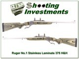 Ruger No.1 Stainless Laminate 375 H&H