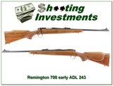Remington 700 ADL early pressed checkering 243 Exc Cond!