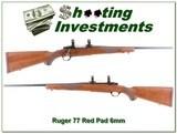 Ruger 77 older Red Pad 6mm Rem Collector!