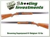 Browning Superposed Lightning 61 Belgium 12 Ga