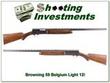 Browning A5 Light 12 59 Belgium MINT