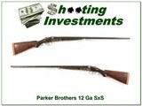 Parker Brothers Grade 2 1891 made 12 gauge