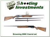 Browning 2000 75 Belgium 12 Ga 3-barrel set! - 1 of 4