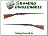 Webley & Scott 12 Ga SxS 28in F & M