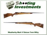 Weatherby Mark V Deluxe 7mm XX Wood 26in!