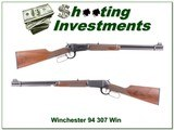 Winchester 94AE in 307 Winchester as new!
