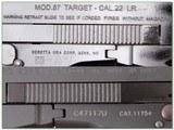 Beretta 87 TARGET 22 LR Pistol NIB - 4 of 4