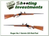 Ruger No.1 Varmint vintage Red Pad in 223 Remington