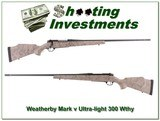 Weatherby Mark V Ultra-Light new model w/ break - 1 of 4
