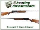 Browning A5 69 Belgium Magnum 20 Ga VR!